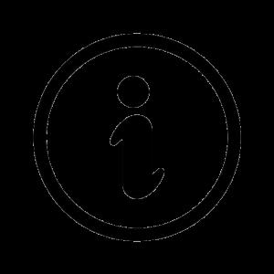 La lettre i entourée d'un cercle