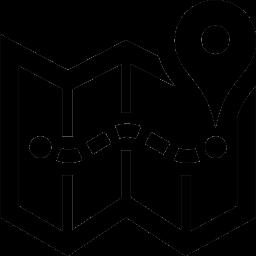 Un plan avec marqueur de position