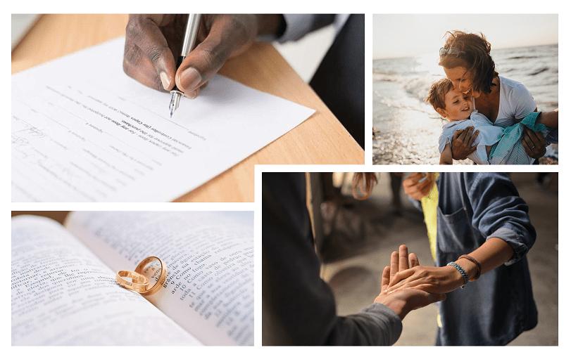 Damier images sur le divorce